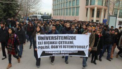 Eskişehirde üniversitelilerden protesto eylemi