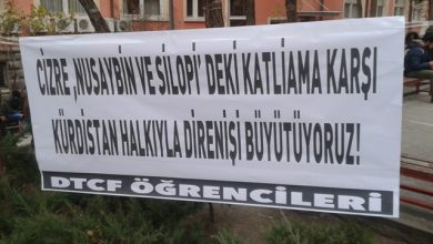 ankara universitesinde kurdistan icin pankart