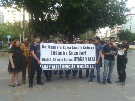 Lazkiye katliamı protesto edildi
