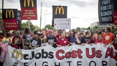 İşçiler McDonals genel merkezini işgal ettiler