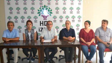 Açlık grevi eylemine İzmirden destek