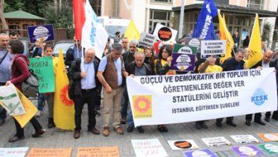 Eğitim Sen İstanbul Milli Eğitim önü eylem
