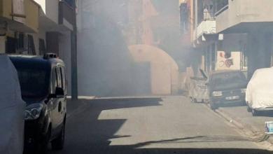 Polis taziye çadırına saldırdı