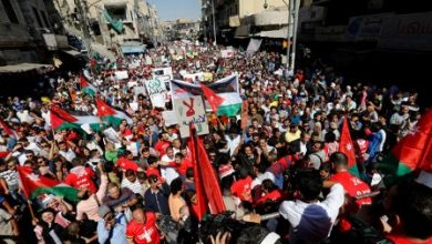 Ürdünde halk İsrail ile yapılan anlaşmaya tepki gösterdi