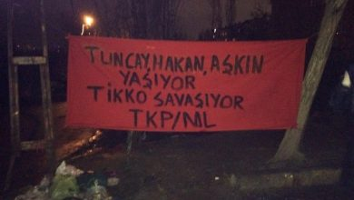 militanlardan gazi ve sarigazide pankart