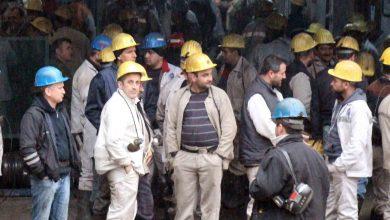 maden işçilerinden eylem