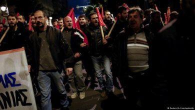 yunanistanda grev hakkının kısıtlanmasına karşı direniş