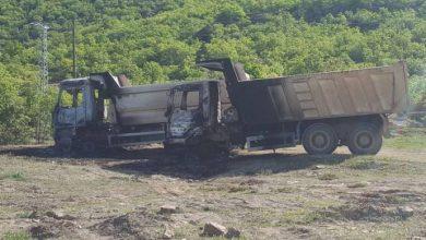 kamyonlar dersimde ataşe verildi